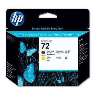Εικόνα της Κεφαλή Εκτύπωσης HP No 72 Matte Black και Yellow C9384A