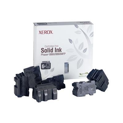 Εικόνα της Solid Ink Xerox Black 6 Τεμάχια HC 108R00749