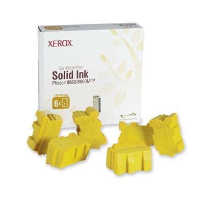 Εικόνα της Solid Ink Xerox Yellow 6 Τεμάχια HC 108R00748