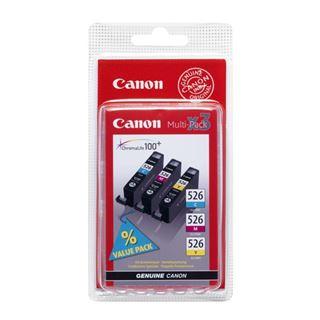 Εικόνα της Πακέτο 3 Μελανιών Canon CLI-526 Cyan, Magenta και Yellow 4541B006