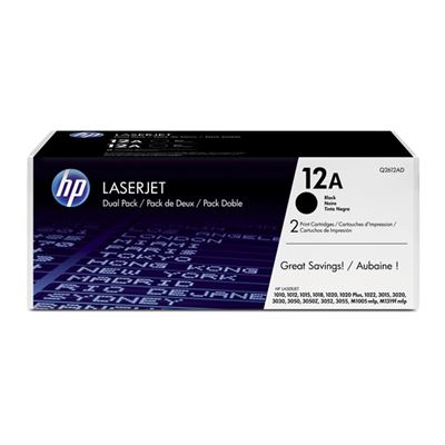 Εικόνα της Toner Dual Pack HP No 12A Black Q2612AD
