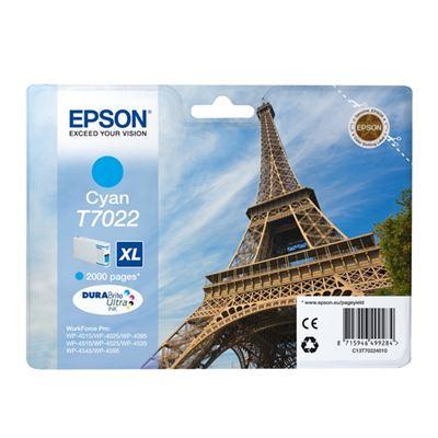 Εικόνα της Μελάνι Epson T7022 Cyan XL T702240