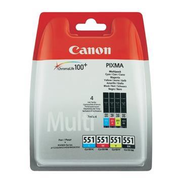 Εικόνα της Πακέτο 4 Μελανιών Canon CLI-551MPK Cyan, Magenta, Yellow και Black 6509B009