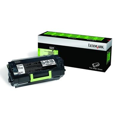 Εικόνα της Toner Lexmark 522 Black Return Program 52D2000