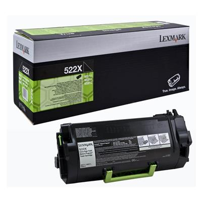 Εικόνα της Toner Lexmark 522X Black Extra HC Return Program 52D2X00