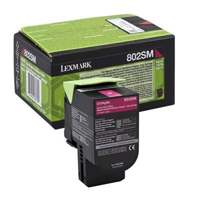 Εικόνα της Toner Lexmark 802SM Magenta High Yield Return 80C2SM0