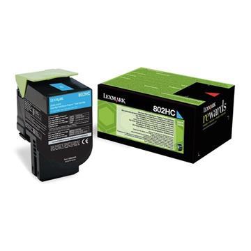 Εικόνα της Toner Lexmark 802HC Cyan Extra High Yield 80C2HC0