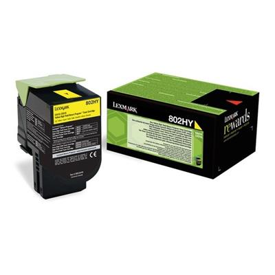 Εικόνα της Toner Lexmark 802HY Yellow Extra High Yield 80C2HY0