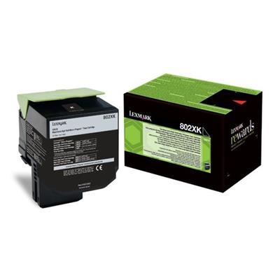 Εικόνα της Toner Lexmark 802XK Black Extra Extra High Yield Return 80C2XK0