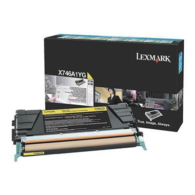 Εικόνα της Toner Lexmark X746/748 Yellow Return Program X746A1YG