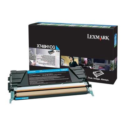 Εικόνα της Toner Lexmark X748 Cyan HC X748H1CG