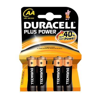Εικόνα της Αλκαλικές Μπαταρίες AA 1.5V Duracell Plus 4 Τεμ (LR6) 81417775