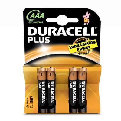Εικόνα της Αλκαλικές Μπαταρίες AAA 1.5V Duracell Plus 4 Τεμ (LR3) 81275258