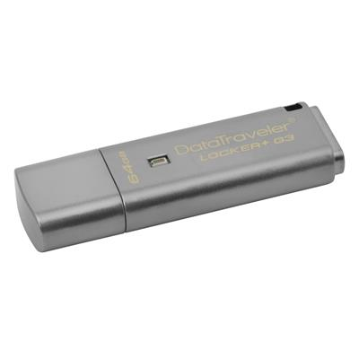Εικόνα της Kingston Data Traveler Locker G3 64GB USB 3.0 DTLPG3/64GB