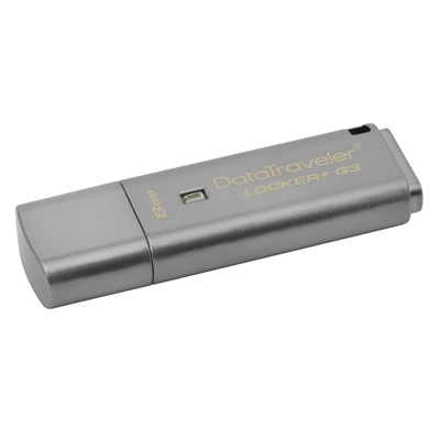 Εικόνα της Kingston Data Traveler Locker G3 8GB USB 3.0 DTLPG3/8GB
