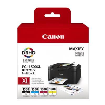 Εικόνα της Πακέτο 4 Μελανιών Canon PGI-1500MPK XL Black, Cyan, Magenta και Yellow 9182B004