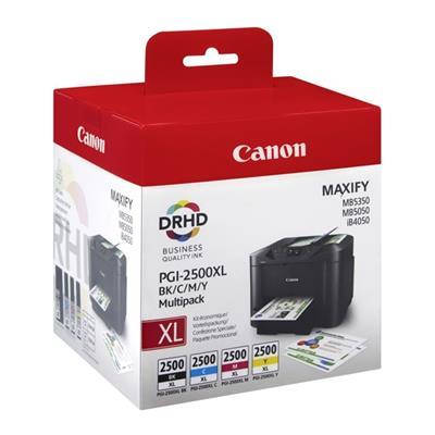 Εικόνα της Πακέτο 4 Μελανιών Canon PGI-2500MPK XL Black, Cyan, Magenta και Yellow 9254B004