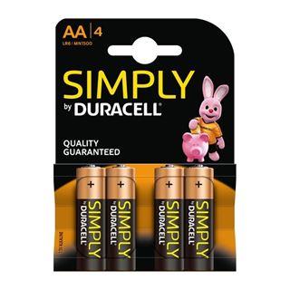 Εικόνα της Αλκαλικές Μπαταρίες AA 1.5v Duracell Simply 4 Τεμ (LR6) 81478829