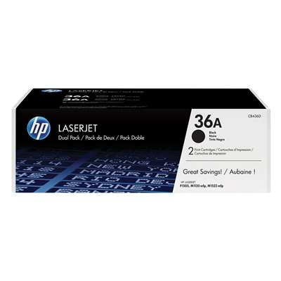 Εικόνα της Toner Dual Pack HP No 36A Black CB436AD