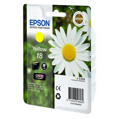Εικόνα της Μελάνι Epson T180440 Yellow C13T18044010