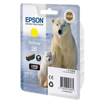 Εικόνα της Μελάνι Epson 26 Yellow C13T26144010