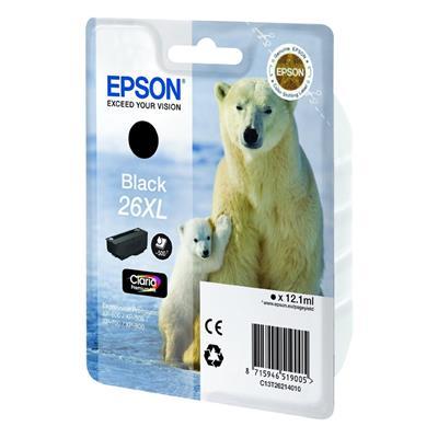 Εικόνα της Μελάνι Epson 26 XL Black C13T26214010