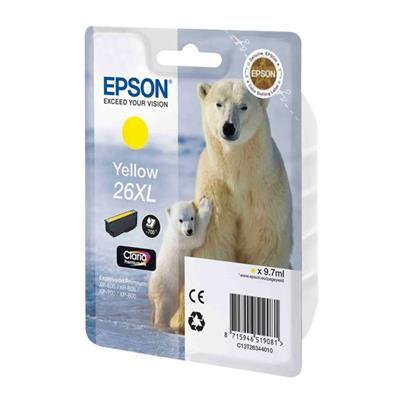 Εικόνα της Μελάνι Epson 26 XL Yellow C13T26344010