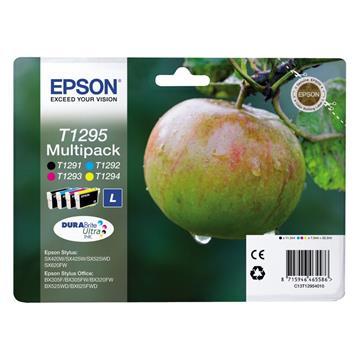 Εικόνα της Πακέτο 4 Μελανιών Epson T1295 Black, Cyan, Magenta και Yellow Large C13T129540