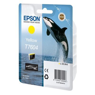 Εικόνα της Μελάνι Epson T7604 Yellow C13T76044010