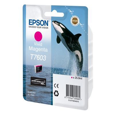 Εικόνα της Μελάνι Epson T7603 Vivid Magenta C13T76034010