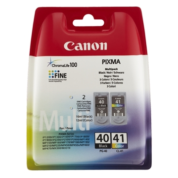 Εικόνα της Πακέτο 2 Μελανιών Canon PG-40 / CL-41 Black / Color 0615B043