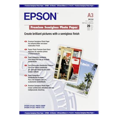 Εικόνα της Φωτογραφικό Χαρτί Epson A3 Semi Gloss 251g/m² 20 Φύλλα C13S041334