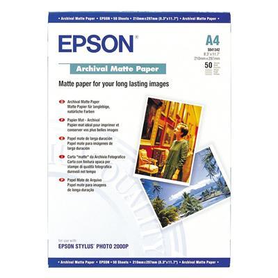 Εικόνα της Φωτογραφικό Χαρτί Epson A4 Archival Matte 192g/m² 50 Φύλλα C13S041342