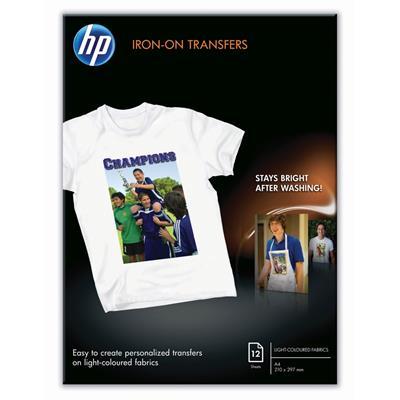 Εικόνα της Φωτογραφικό Χαρτί Transfers Iron-On HP A4 170g/m² 12 Φύλλα C6050A