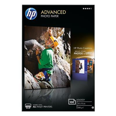 Εικόνα της Φωτογραφικό Χαρτί HP A6 Advanced Glossy 250g/m² 100 Φύλλα Q8692A