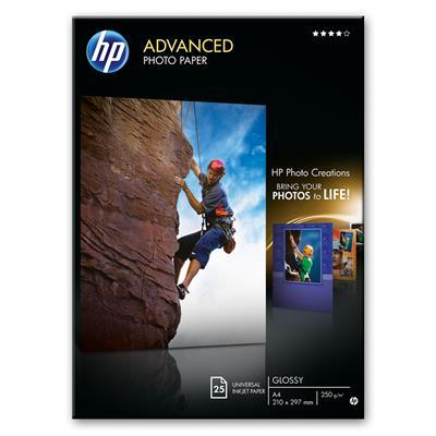 Εικόνα της Φωτογραφικό Χαρτί HP 13 x 18 cm Advanced Glossy 250g/m² 25 Φύλλα Q8696A