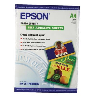Εικόνα της Φωτογραφικό Χαρτί Epson A4 Self Adhesive 167g/m² 10 Φύλλα C13S041106