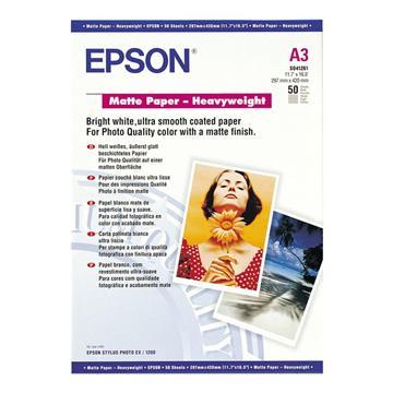 Εικόνα της Φωτογραφικό Χαρτί Heavyweight Epson A3 Matte 167g/m² 50 Φύλλα C13S041261