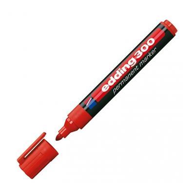 Εικόνα της Μαρκαδόρος Ανεξίτηλος Edding 300 1.5 - 3 mm Red 3623002