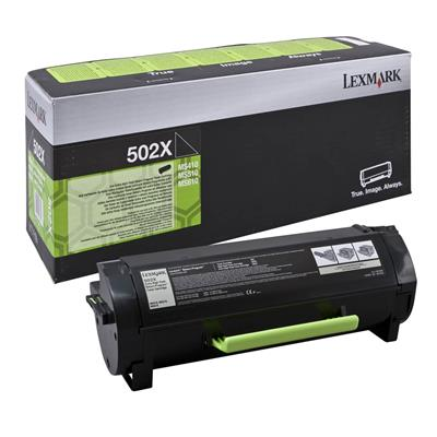 Εικόνα της Toner Lexmark 502X Black Extra HC Return Program 50F2X00
