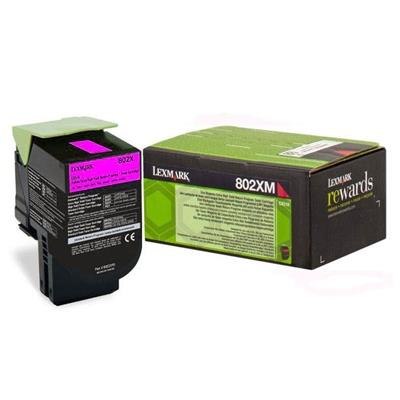 Εικόνα της Toner Lexmark 802XM Magenta Extra Extra High Yield Return 80C2XM0