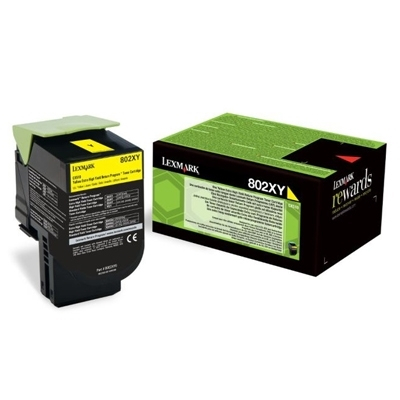 Εικόνα της Toner Lexmark 802XY Yellow Extra Extra High Yield Return 80C2XY0