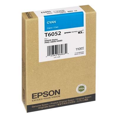 Εικόνα της Μελάνι Epson T6052 Cyan C13T605200