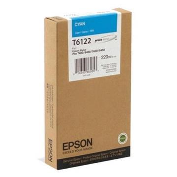 Εικόνα της Μελάνι Epson T6122 Cyan HC C13T612200