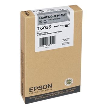 Εικόνα της Μελάνι Epson T6039 Light Light Black HC C13T603900