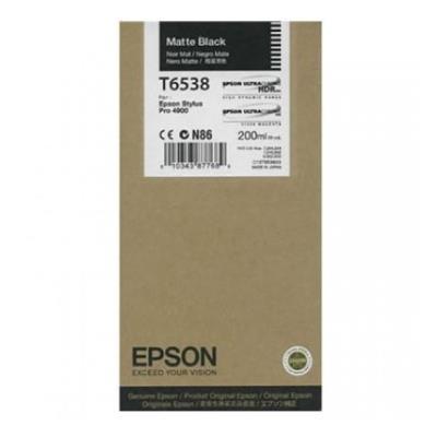 Εικόνα της Μελάνι Epson T6538 Matte Black C13T653800
