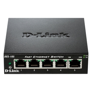 Εικόνα της Switch D-Link 5-Port DES-105 10/100 Mbps