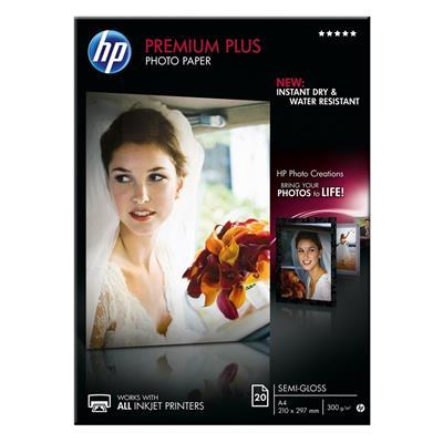 Εικόνα της Φωτογραφικό Χαρτί HP A4 Premium Plus Semi-Gloss A4 300g/m² 20 Φύλλα CR673A