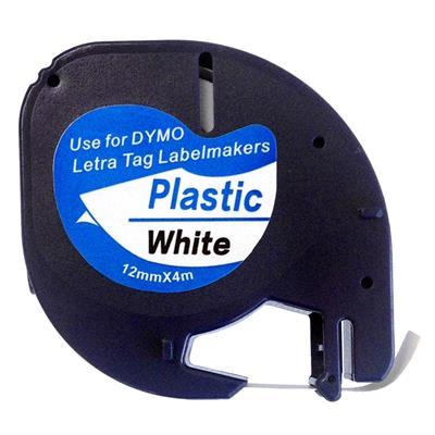 Εικόνα της Πλαστικές Ετικέτες Dymo Letratag White 12mm x 4m 91201 S0721610