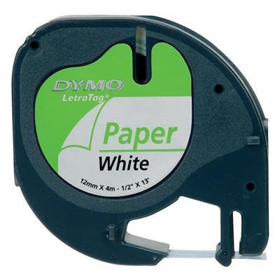 Εικόνα της Χάρτινες Ετικέτες Dymo Letratag White 12mm x 4m 91200 S0721510